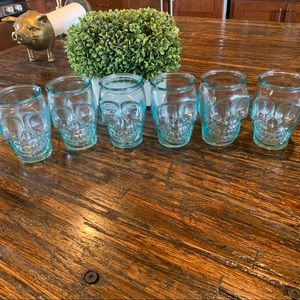 Skeleton Skull clear Glasses 6 Halloween Juice